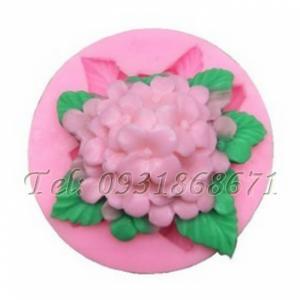Khuôn rau câu silicon hoa cẩm tú cầu - Mã số 68