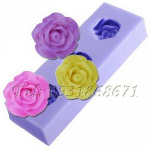 Khuôn rau câu silicon 3 hoa hồng - Mã số 41