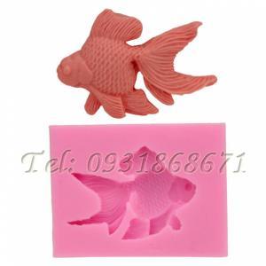 Khuôn rau câu silicon cá bụng bự - Mã số 216