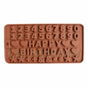 Khuôn rau câu silicon happy birthday - Mã số 129