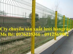 Hàng rào cột trái đào, hàng rào cột khóa thông minh, hàng rào lưới thép hàn