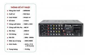 Amply Arirang SPA-203 IIIB hỗ trợ Bluetooth, radio FM, thẻ SD MP3