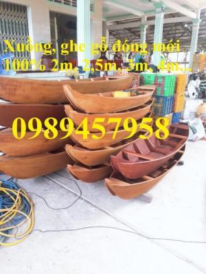 Thuyền gỗ ba lá dài 2m, 3m, 4m, 5m, thuyền gỗ trang trí