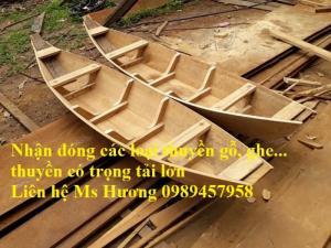 Bán thuyền gỗ, thuyền trang trí, thuyền gỗ du lịch gỗ 4m, 4,5m, 5m