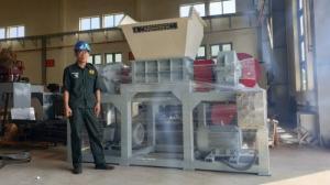 Máy Nghiền 2 trục, Băm xay cắt rác đa năng, Hitech-2T800AC