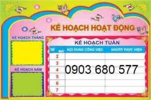 Cần bán bảng biểu, bảng tuyên truyền dành cho trường học mầm non