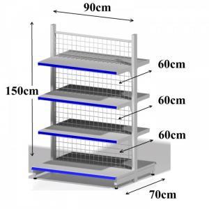 Giá kệ siêu thị mini, cửa hàng tiện lợi, tạp hóa; Kệ trưng bày, Kệ sắt đa năng Quy Nhơn Bình Định