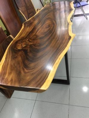 Bàn gỗ me tây nguyên tấm dài 2.5m rộng 80cm