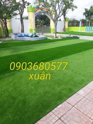 Chuyên bán cỏ nhân tạo cho trang trí trường mầm non, sân chơi, sân bóng, sân golf