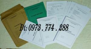 In nguyên bộ hồ sơ cán bộ viên chức theo mẫu HS09a -VC/BNV mới nhất
