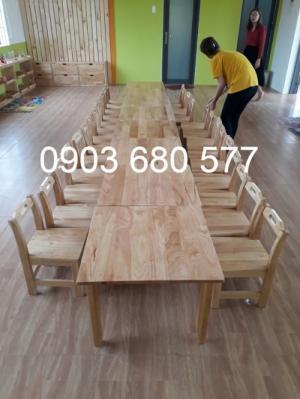Cần bán bàn ghế gỗ giá rẻ, chất lượng cao cho bậc mầm non, mẫu giáo