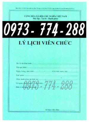 Lý lịch viên chức giá cả, uy tín, chất lượng, mẫu chuẩn mới tại Hà Nội