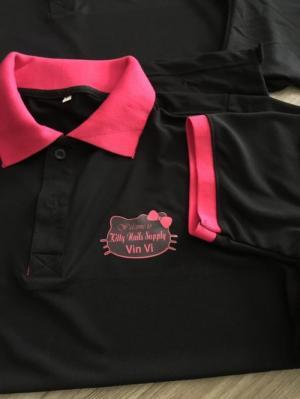 xưởng may áo thun đồng phục shop mỹ phẩm