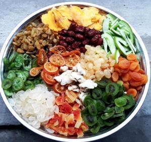 Hủ 500gr Trái cây sấy dẻo mix thập cẩm cao cấp - Food By Mama