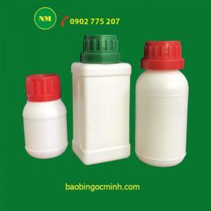 Chai nhựa 1 lít hdpe đựng thuốc thú y, thuốc thủy sản