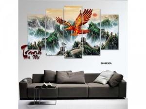 tranh tráng gương mica chim đại bàng kthuoc 150x90