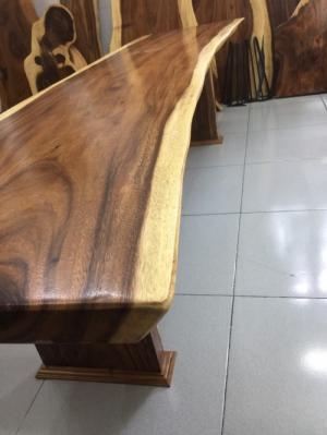 Mặt bàn gỗ me tây dài 2.28m rộng 60-55-60cm
