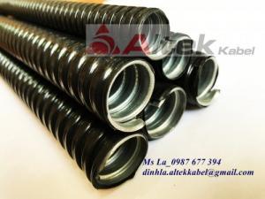 Ống ruột gà- ống sun sắt bọc nhựa đầu nối ống nhập khẩu chất lượng tốt