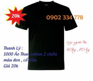 áo thun cổ tròn màu đen giá cực rẽ từ 20k