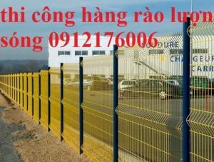 Hàng rào lưới thép hàn D4 a 50x150 mạ kẽm sơn tĩnh điện
