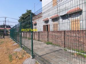 Hàng rào lưới thép hàn mạ kẽm sơn tĩnh điện D4 a 50x150