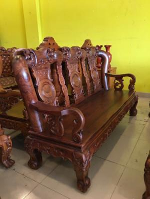 2019-12-12 16:36:48  16  Siêu Phẩm Phòng Khách - Bộ Bàn Ghế Chạm Đào, Tay Cột 12, 10 Món Siêu VIP | Hàng Tuyển 205,000,000