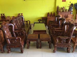 2019-12-12 16:36:48 Siêu Phẩm Phòng Khách - Bộ Bàn Ghế Chạm Đào, Tay Cột 12, 10 Món Siêu VIP | Hàng Tuyển 205,000,000