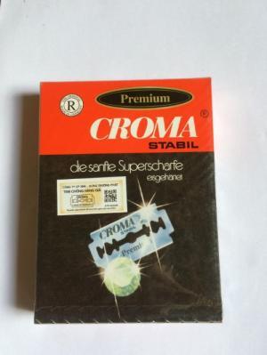 Vỉ 200 lưỡi lam Croma Premium siêu sắc