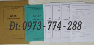 Bán mẫu B01 của bộ hồ sơ cán bộ, công chức