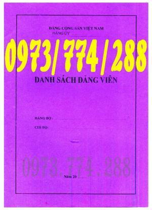 Bán quyển sổ danh sách Đảng viên bìa cũ