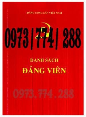 Sổ danh sách Đảng viên - Đảng Cộng Sản Việt Nam - Chi ủy - Chi bộ