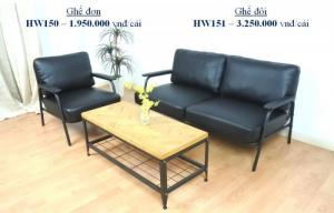 hw151 - sofa đôi khung sắt pvc - homeworld