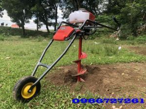 máy khoan đất trồng cây, trụ tiêu cọc điện, cọc bê tông,...