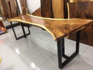 Bàn gỗ me tây nguyên tấm dài 2.44m rộng 85-50-87 cm