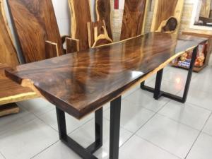 Bàn gỗ me tây nguyên tấm dài 1.92m rộng 68cm