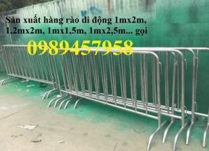 Hàng rào chắn tạm thời,  hàng rào di động barie dài 1mx2m, 1,2mx2,5m, 1,5mx2m
