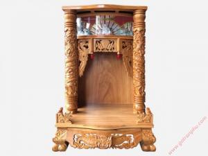 Bàn thờ ông địa thần tài gỗ gõ đỏ lào OD031