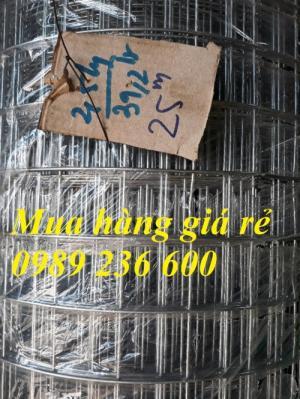 Lưới thép hàn mạ kẽm kích thước D1a12x12; D2a25x25; D2a50x50; D3a50x50 hàng sẵn kho