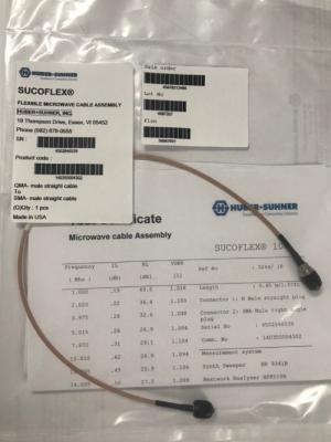 SUCOFLEX 100- QMA(Male) to SMA(Male) cable