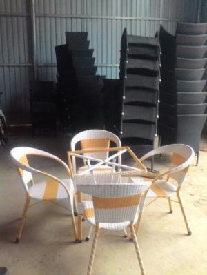 Bộ bàn ghế cafe giá tốt tại xưởng sản xuất