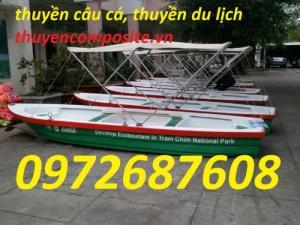 Thuyền chèo tay composite dành cho du lịch, câu cá, đánh bắt, cứu hộ