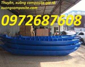 Thuyền ba lá, thuyền tam bản, thuyền nhựa composite giá rẻ