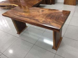 Mặt bàn sofa gỗ me tây nguyên tấm dài 1.07m rộng 50cm - A19