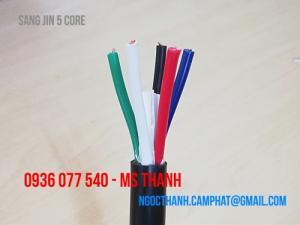 Cáp điều khiển 5x0.5 mm2 Sangjin RVV, cáp mềm không chống nhiễu