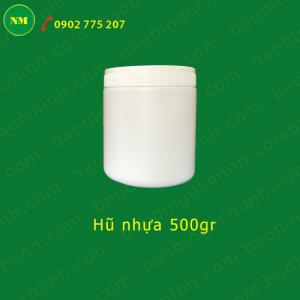 Cung cấp hủ nhựa đựng bột, hủ nhựa hdpe 500g tròn