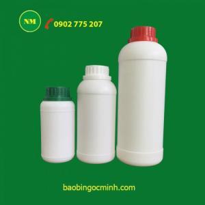Bình nhựa 1 lít, lọ nhựa 1 lít, hủ nhựa 1 lít đựng thuốc thủy sản, thuốc thú y