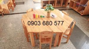 Cần bán bàn ghế gỗ trẻ em cho trường mầm non, lớp mẫu giáo, gia đình