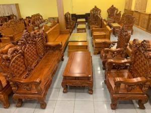 Bộ Bàn Ghế Hoàng Gia 6 Món- Mẫu Gỗ Hương Đá Mới