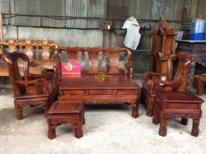 Bộ bàn ghế minh quốc triện gỗ cẩm lai cột 10 – BBG286