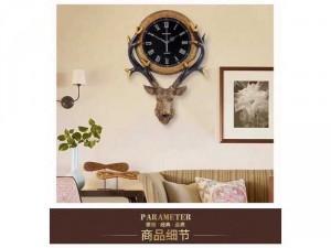 Đồng hồ trang trí Hươu phú quí DHS434